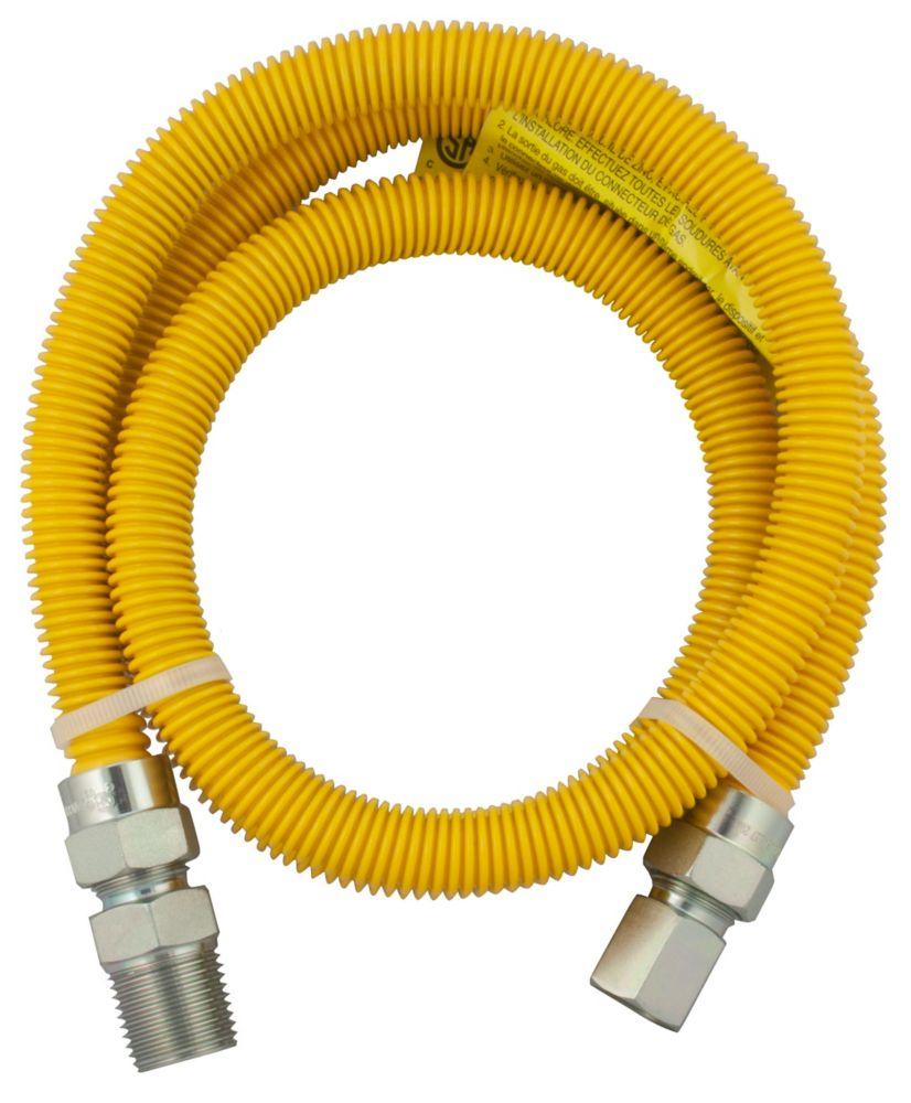 Flex-Connect 3/8 Inch Outside Diameter x 24 Inch Length:1/2 Inch Male Iron Pipe x 1/2 Inch Female Iron Pipe