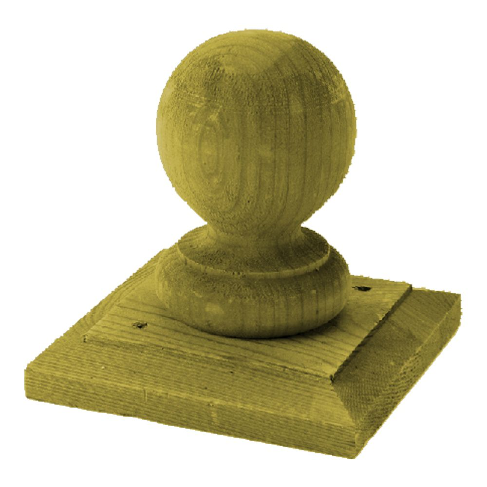 Treated Wood Hudson Ball and Base