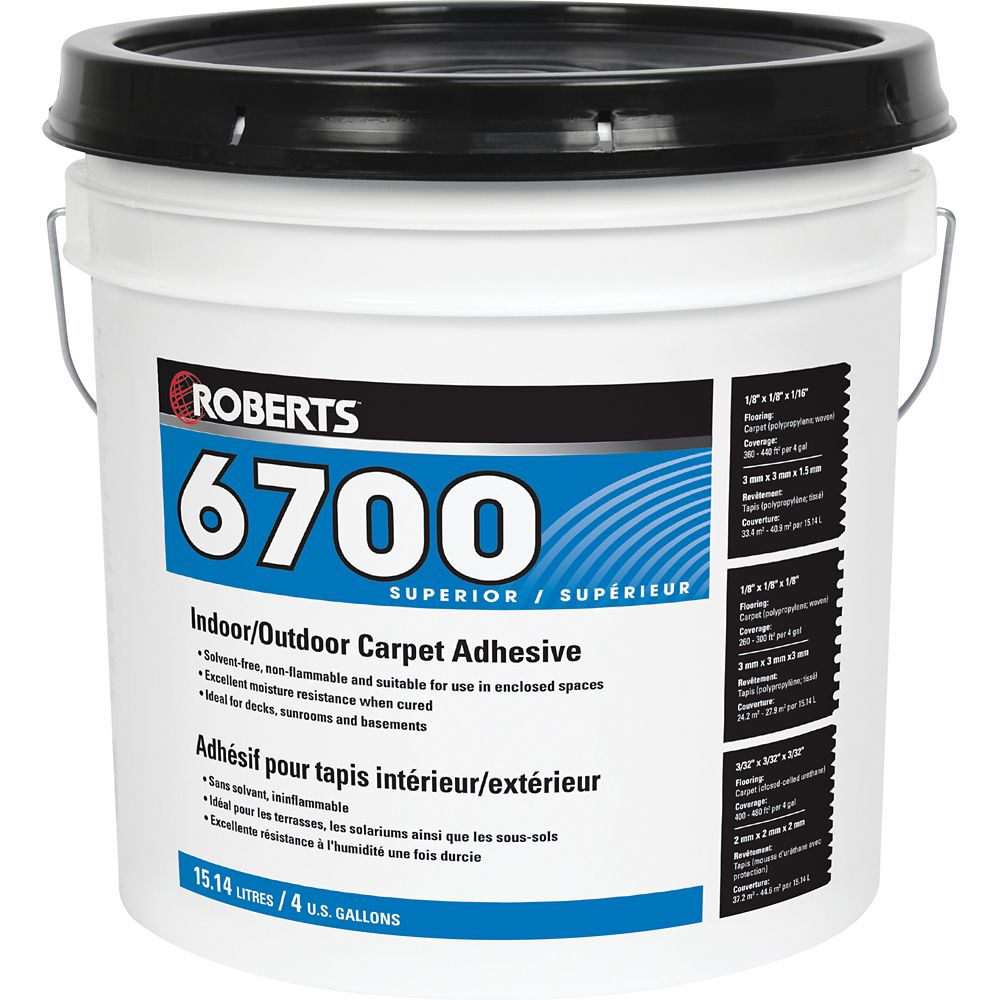 Roberts 6700, 15L Indoor/Outdoor Carpet Adhesive and Glue
