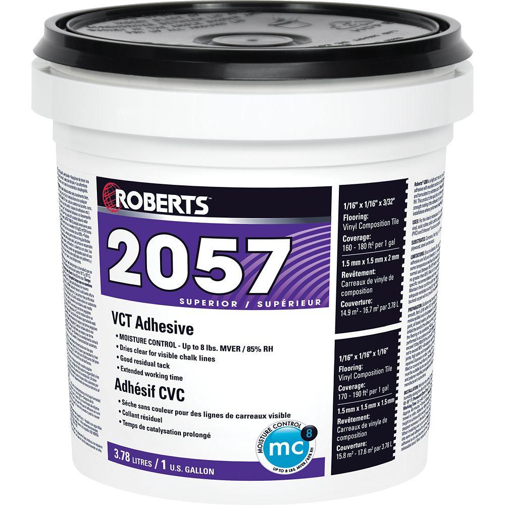 Adhésif Supérieur pour Carrelage de Vinyle de Composition Roberts 2057 de 3.78L
