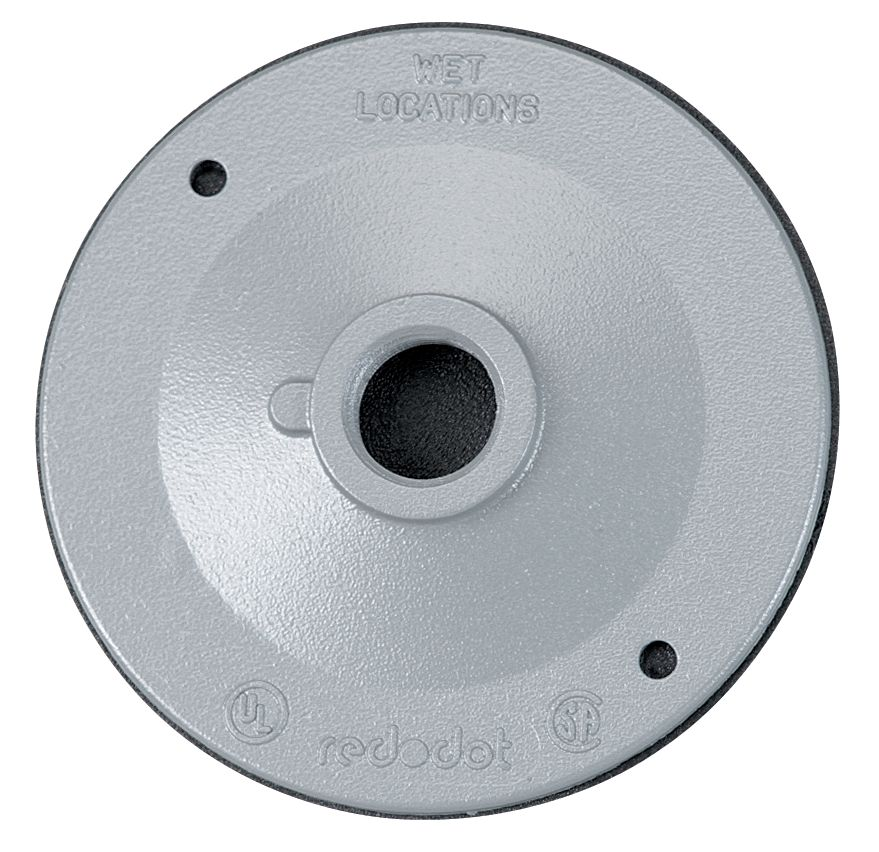 1 Hole Outdoor Round Cover, Silver