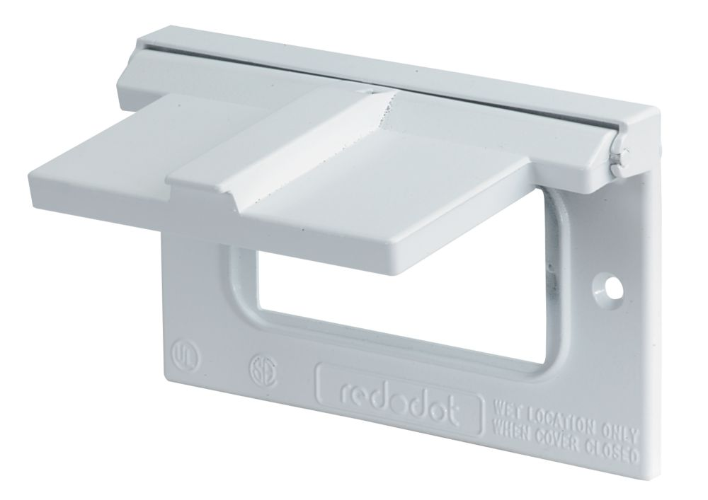 GFCI Receptacle Cover Horizontal, White