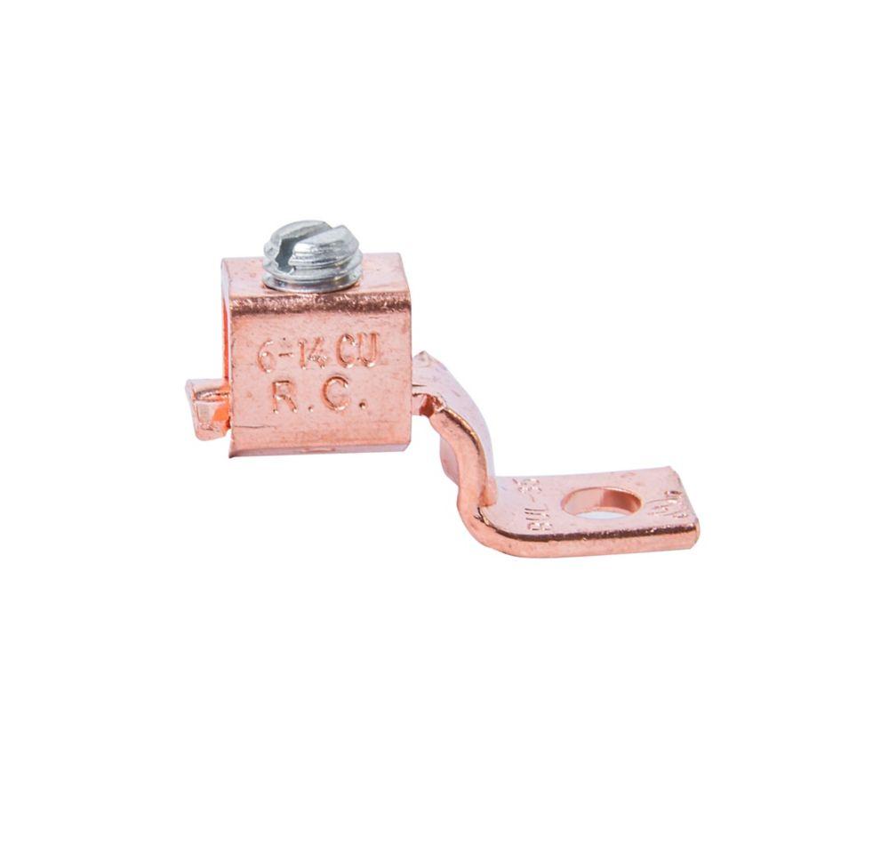 Cosse à serrage mécanique en cuivre de calibre 6-14