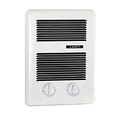 500/800/1300W 240V, complete bath heater, white