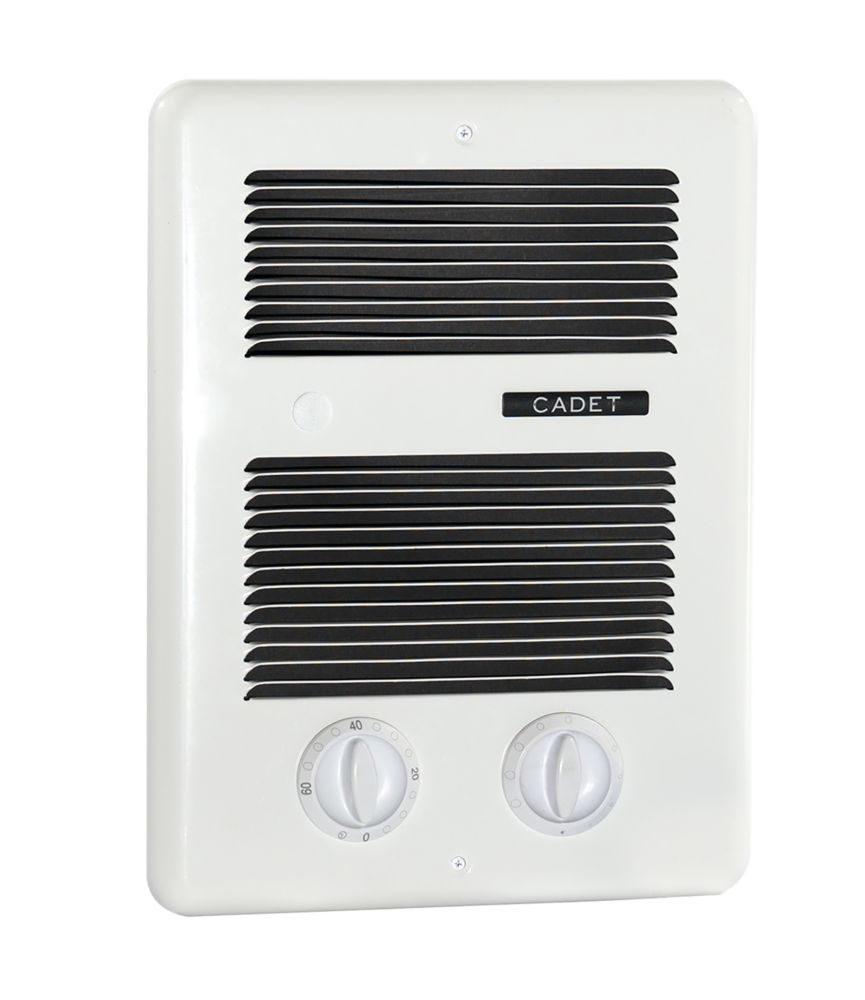 White Deluxe Wall Mount Electric Fan Heater �240 Volts