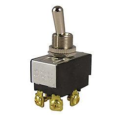 Interrupteur à bascule O/F bipolaire et unidirectionnel de 20A/125V c.a.