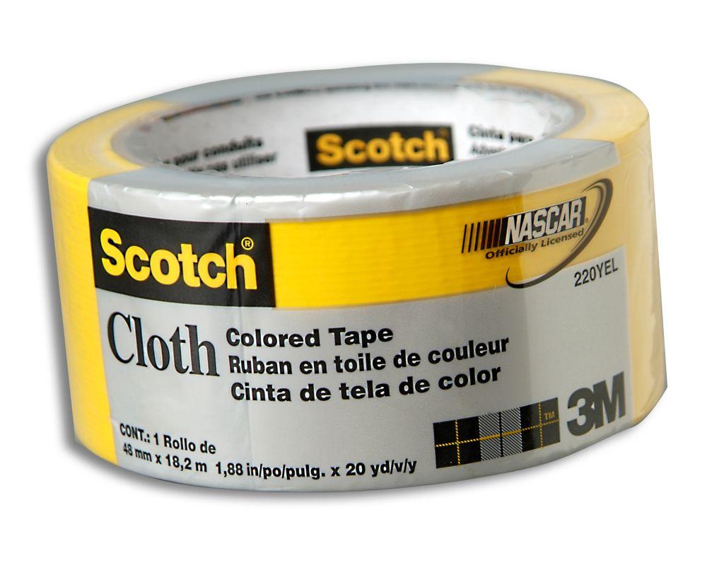 Ruban en toile jaune pour conduits 220 Scotch 3MMC