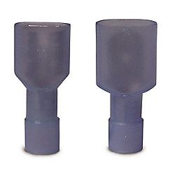 Gardner Bender Connecteur mâle-femelle complètement isolé - Onglet de calibre 16-14 en paires: 0,25po bleu