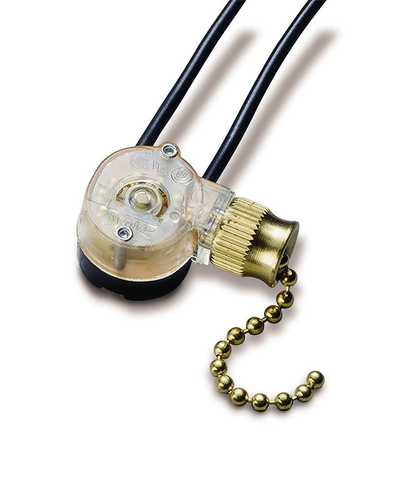 Brass Pull Switch SPST 6A 125 VAC O/F &#x3b; 1/Cd