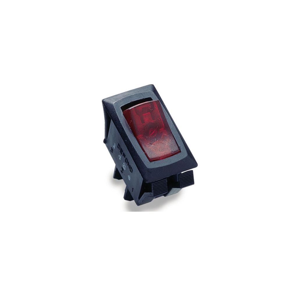 Interrupteur à bascule illuminé O/F unipolaire et unidirectionnel de 16A/125V c.a.