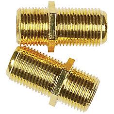 Connecteur en ligne câble coaxial 2 pc