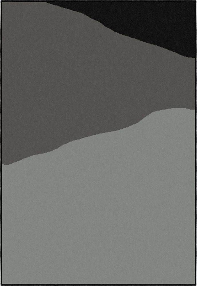 """Gobi noir 5' 3"""" x 7' 5"""""""
