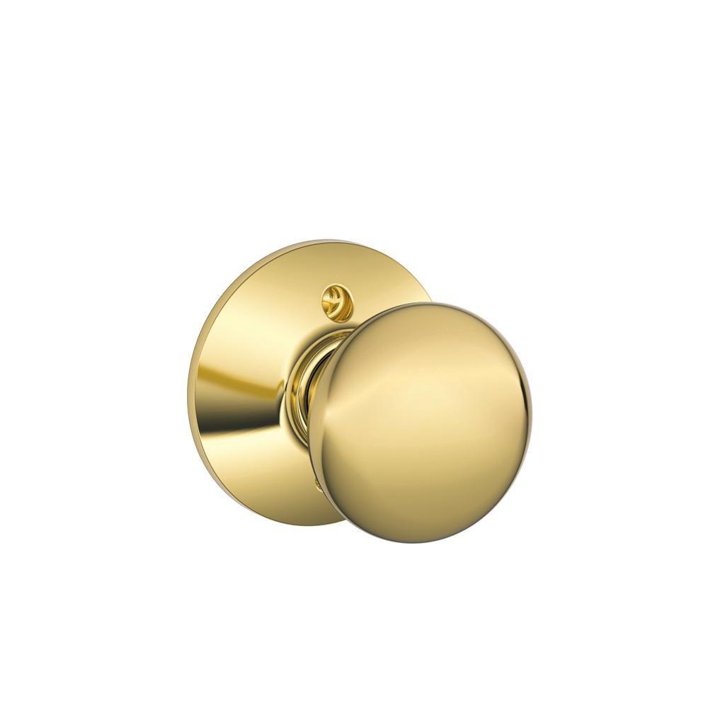 Schlage Dummy Knob Plymouth Bright Brass