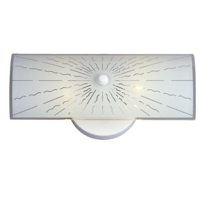 Hampton Bay 2-Light Vanity Light with White Frosted Curve Glass