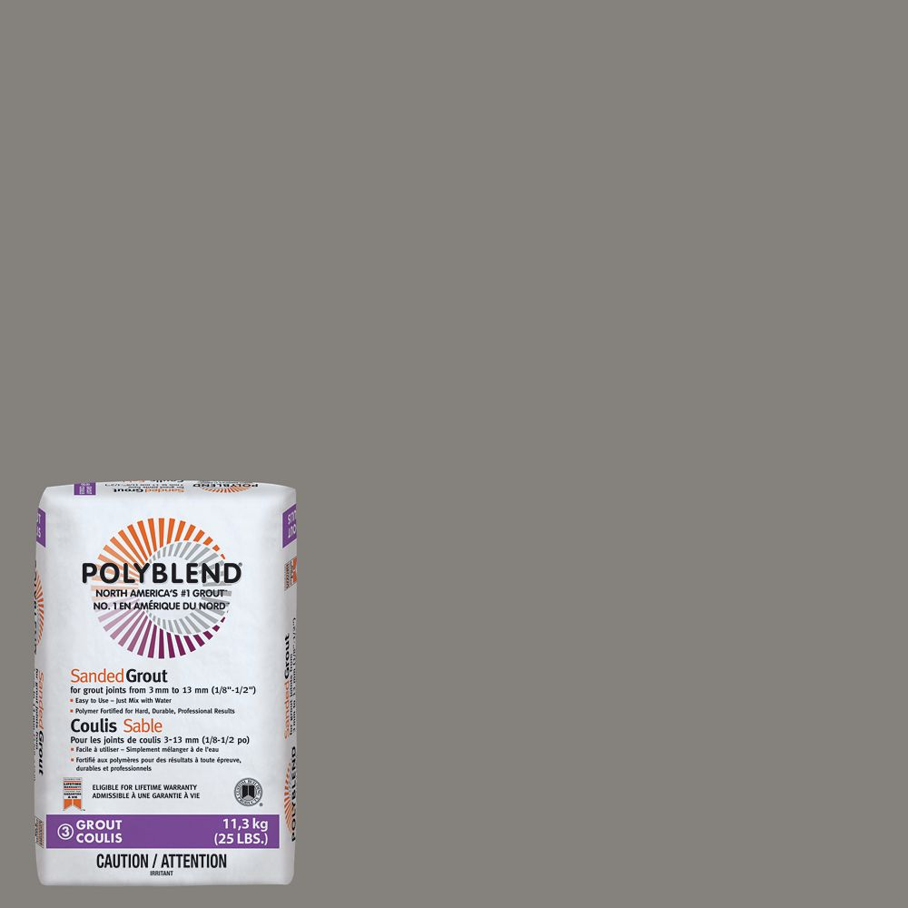 Custom Building Products #335 Winter Gray - Polyblend Sanded Grout - 25lb