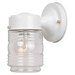 Hampton Bay 1-Light Outdoor Wall Lantern - White
