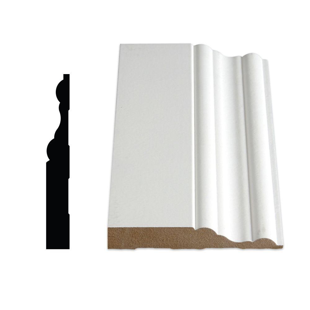 Plinthe coloniale apprêtée en MDF - 5/8 X 4 1/16