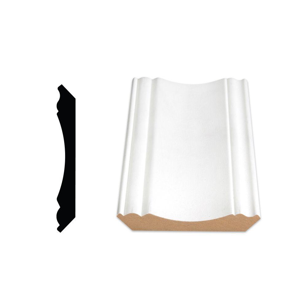 Primed Fibreboard Ogee/Crown 5/8 In. x 4-1/2 In. (Price per linear foot)