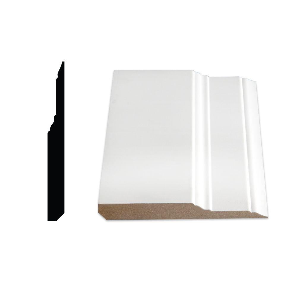 Plinthe en escalier, apprêtée en MDF - 5/8 x 5 1/2 (Prix par pied)