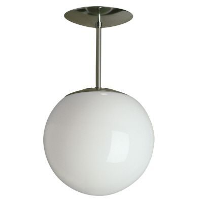8 In. Swedish Ball Pendant With White Glass