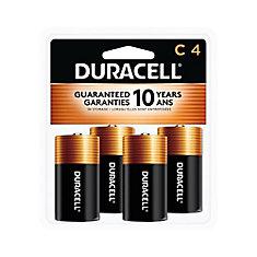 Coppertop C Alkaline Batteries 4 count