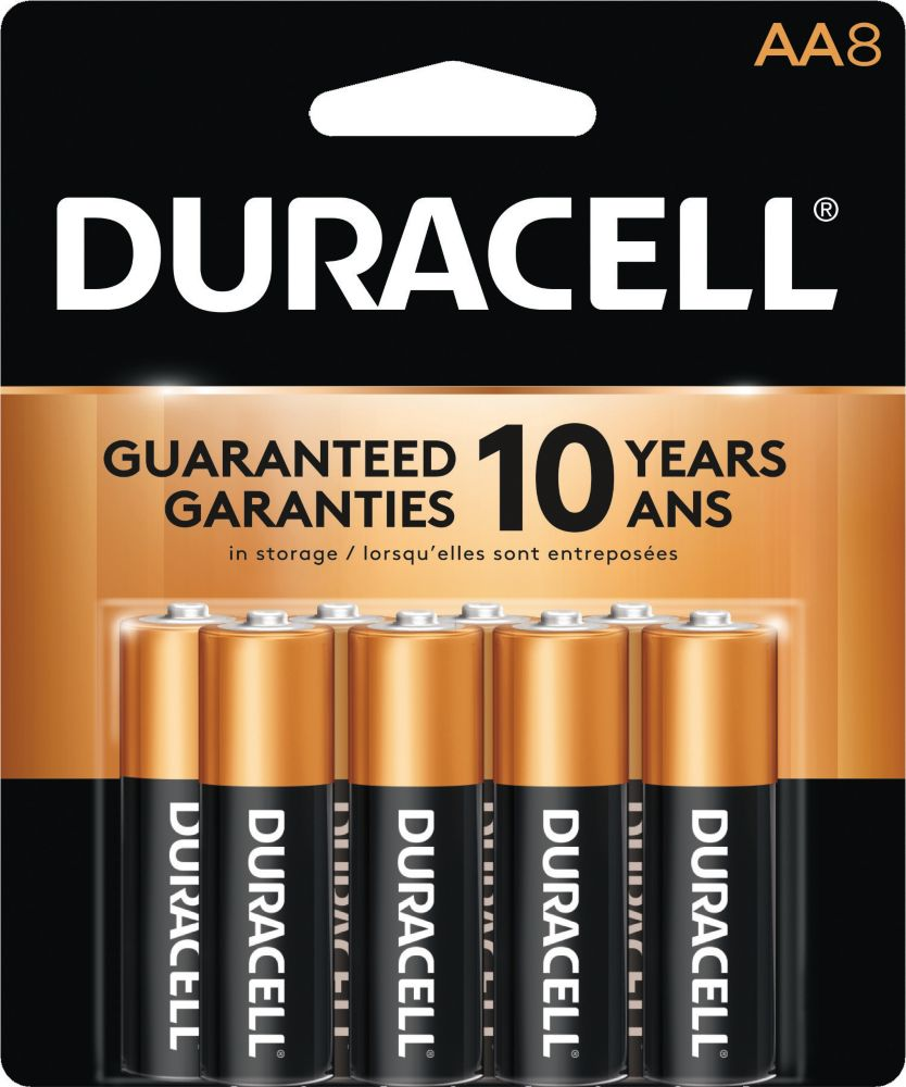 Duracell Copper Top Alkaline Aa8 With Rf Security Tag 48packs Per Case Radiance