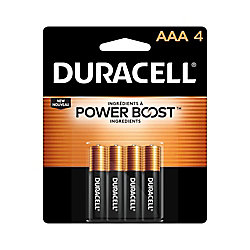 Duracell Coppertop AAA Alkaline Batteries 4 count