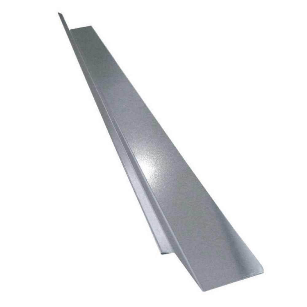 Drip Flashing, 2 x 1-1/4 x 3/8 In. - Galvanized
