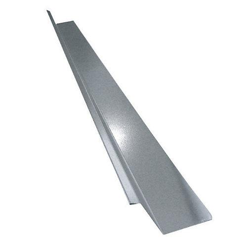 Drip Flashing, 2 x 1-1/4 x 3/8 In. - Galvanized