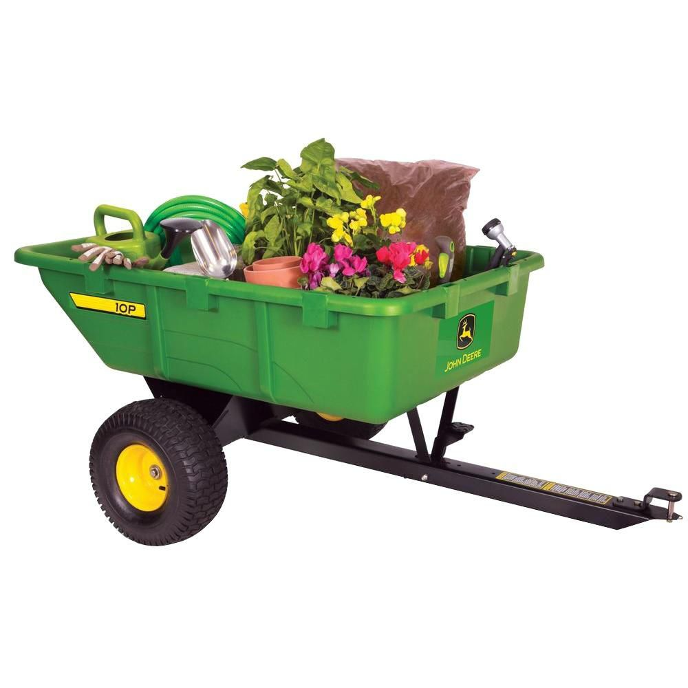 10 Cu Ft Tow Behind Poly Utility Cart