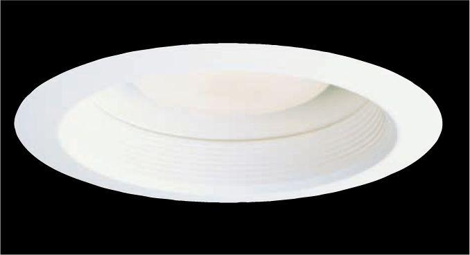 Déflecteur métallique 30WATH blanc, étanche à l'air, ouverture de 15 cm