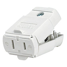 Connector 2 Wire Easy Grip,  White