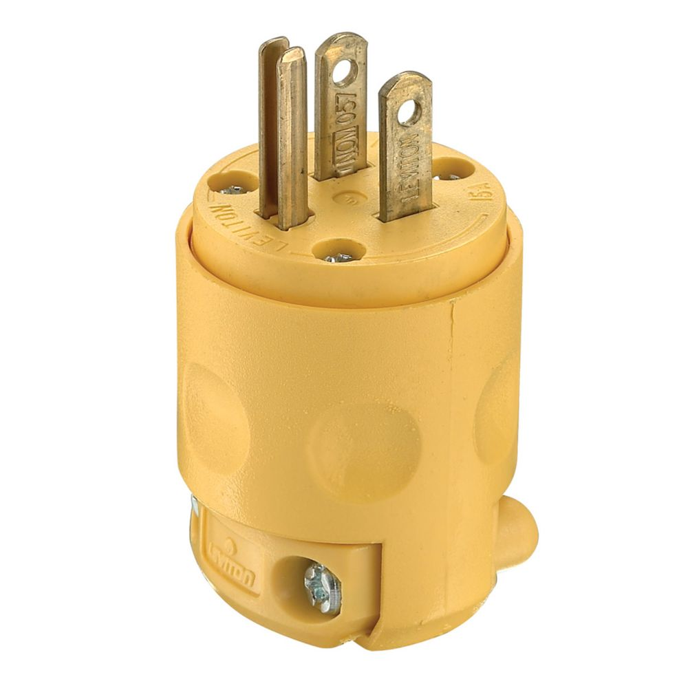 Astounding Leviton Pvc Plug 3 Wire Yellow The Home Depot Canada Wiring Digital Resources Indicompassionincorg