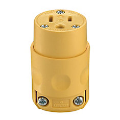 PVC Connector 3-Wire, Yellow