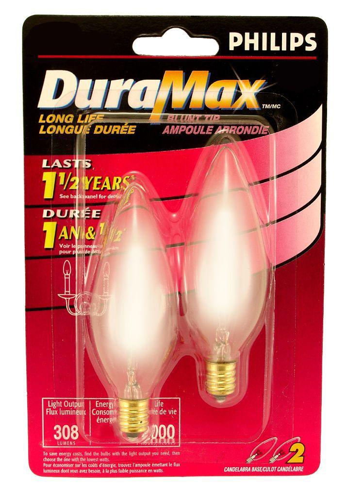 DuraMax Lustre 25 W Pour lustre 25 W dépolie 2/paq.
