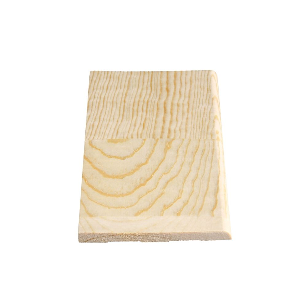 Finger Jointed Pine Plain Base 5/16 In. x 4-1/8 In. x 8 Ft.