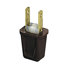 Easy To Wire Plug - brown (2-Pack)