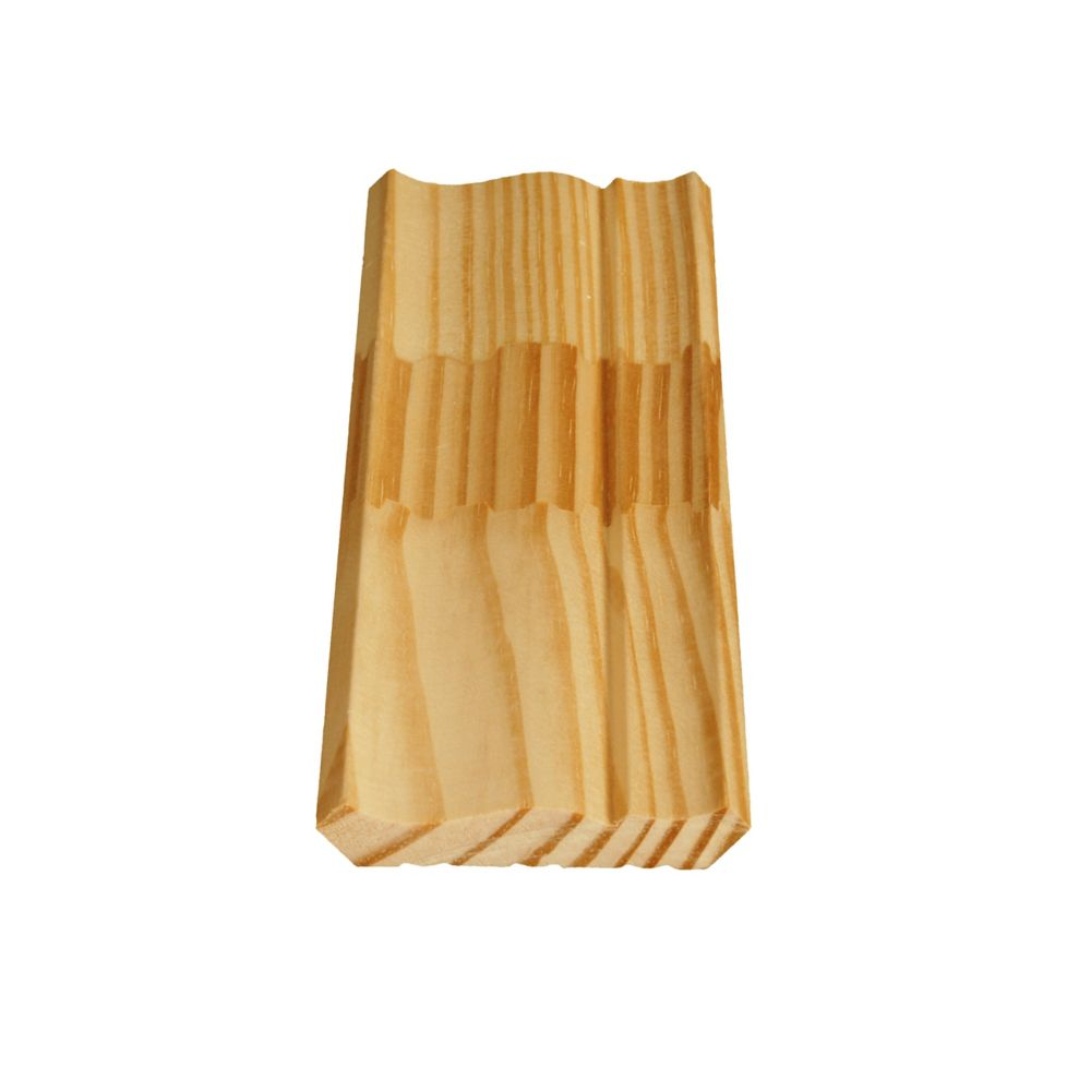 Finger Jointed Pine Ogee/Crown 9/16 In. x 3-1/8 In. x 8 Ft.