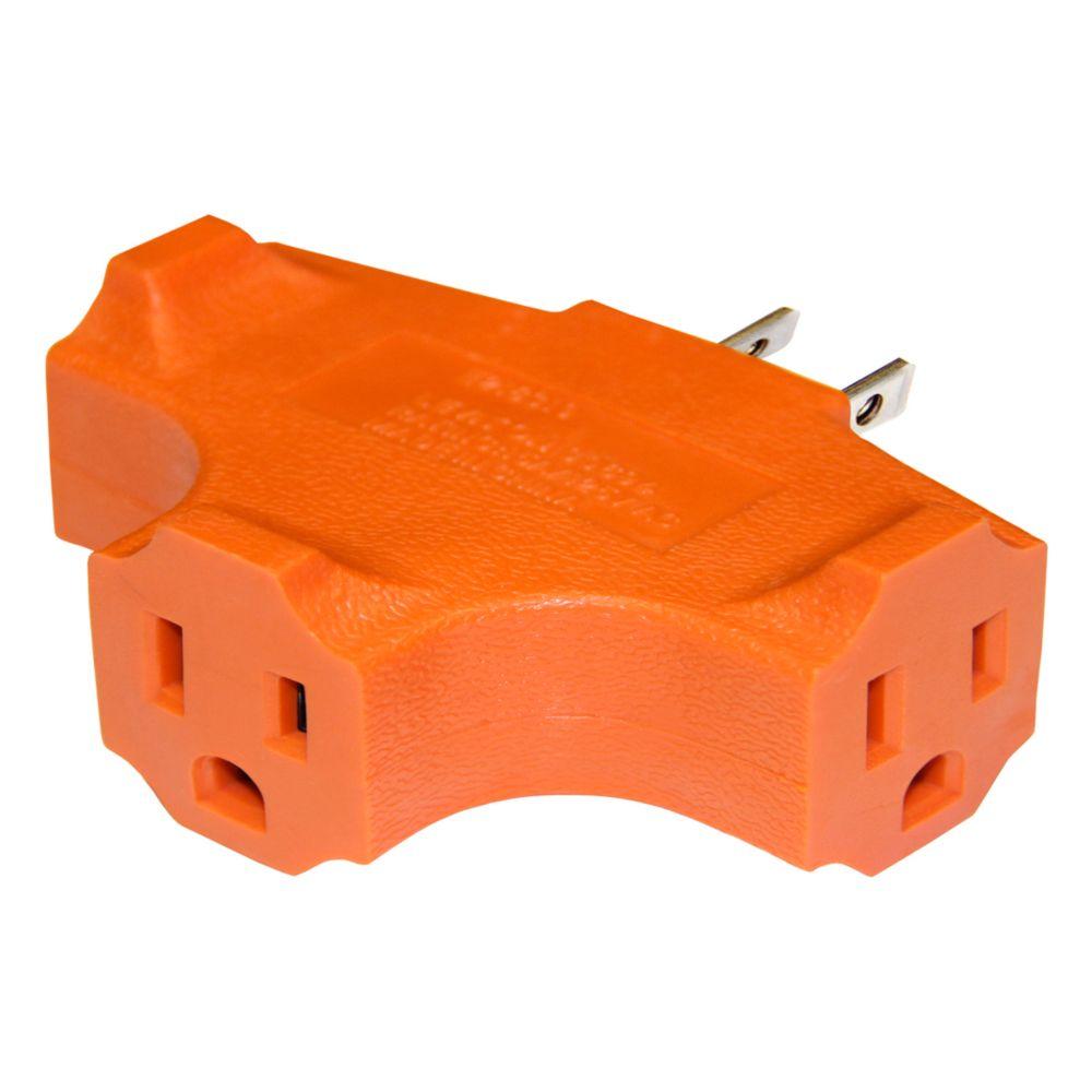 Adaptateur Triple, Trifilaire, Service Robuste, Orange