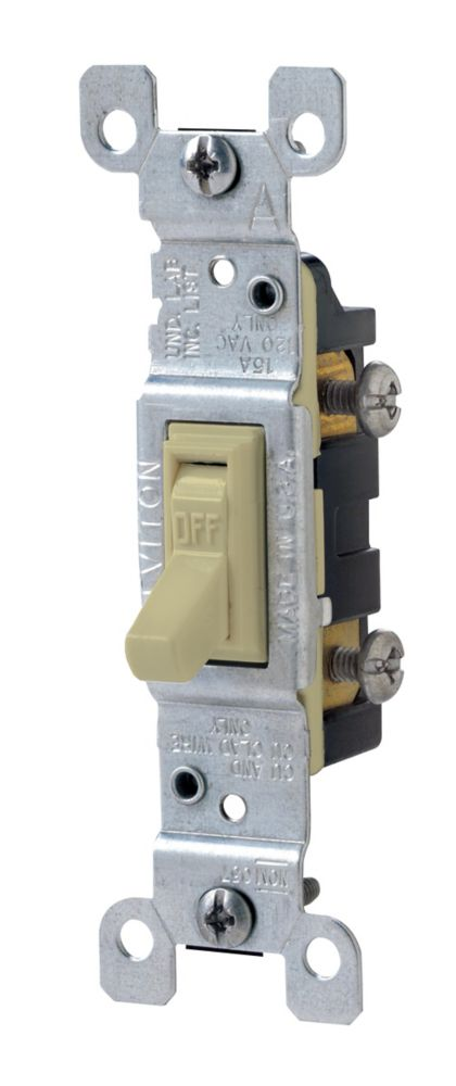Decora Triple Rocker Switch Single Pole With Pig Tail Black 15 Amp