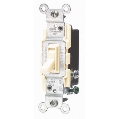 15 Amp 3-Way Quiet Wall Switch Ivory