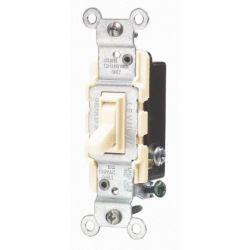 Leviton 15 Amp 3-Way Quiet Wall Switch Ivory