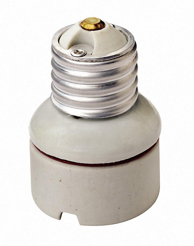 2-Piece Porcelain Medium To Medium Lamp holder Socket Extension