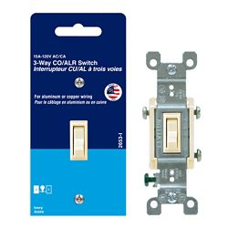 Leviton 3-Way CO/ALR Switch in Off-White