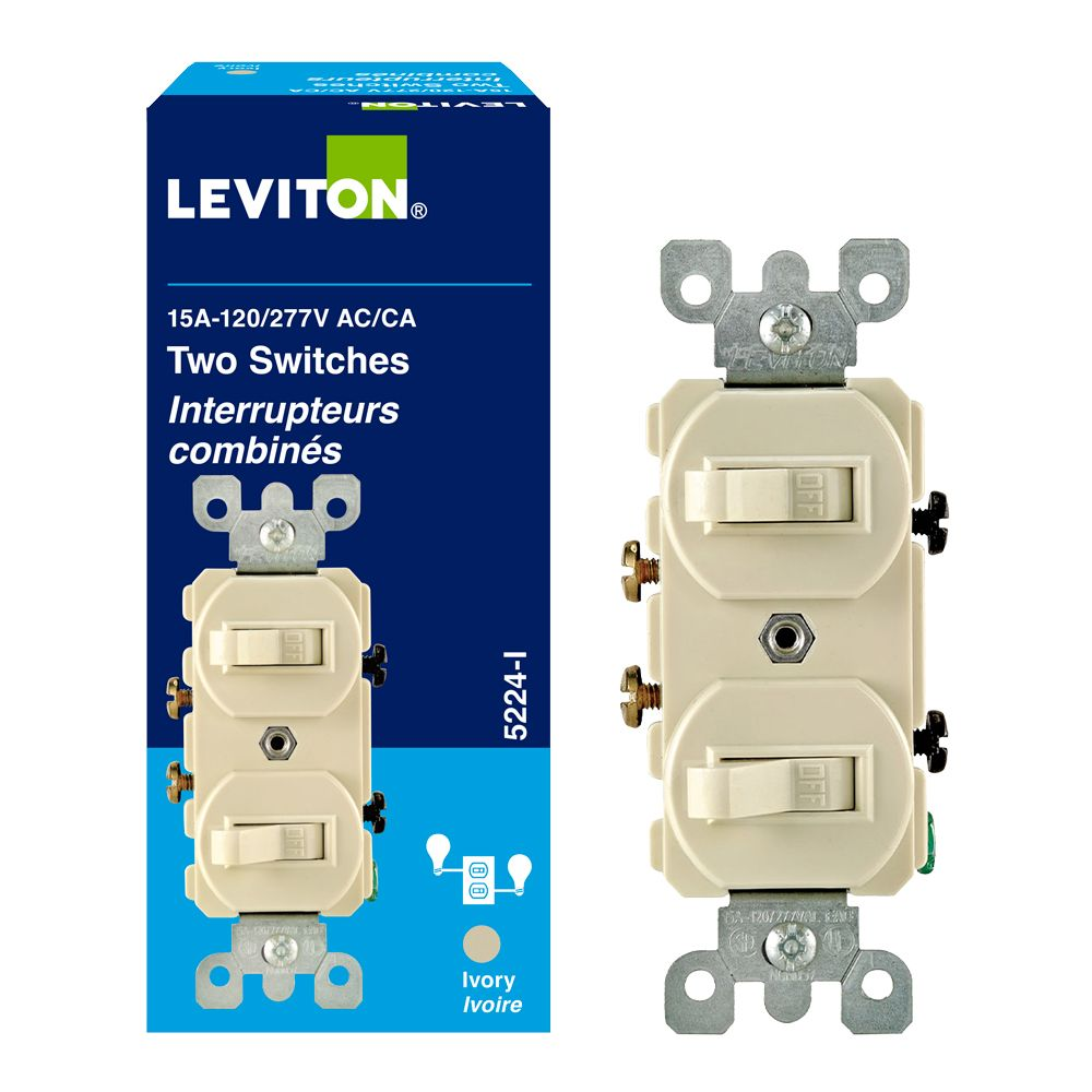 Combination Switch/Switch, Ivory