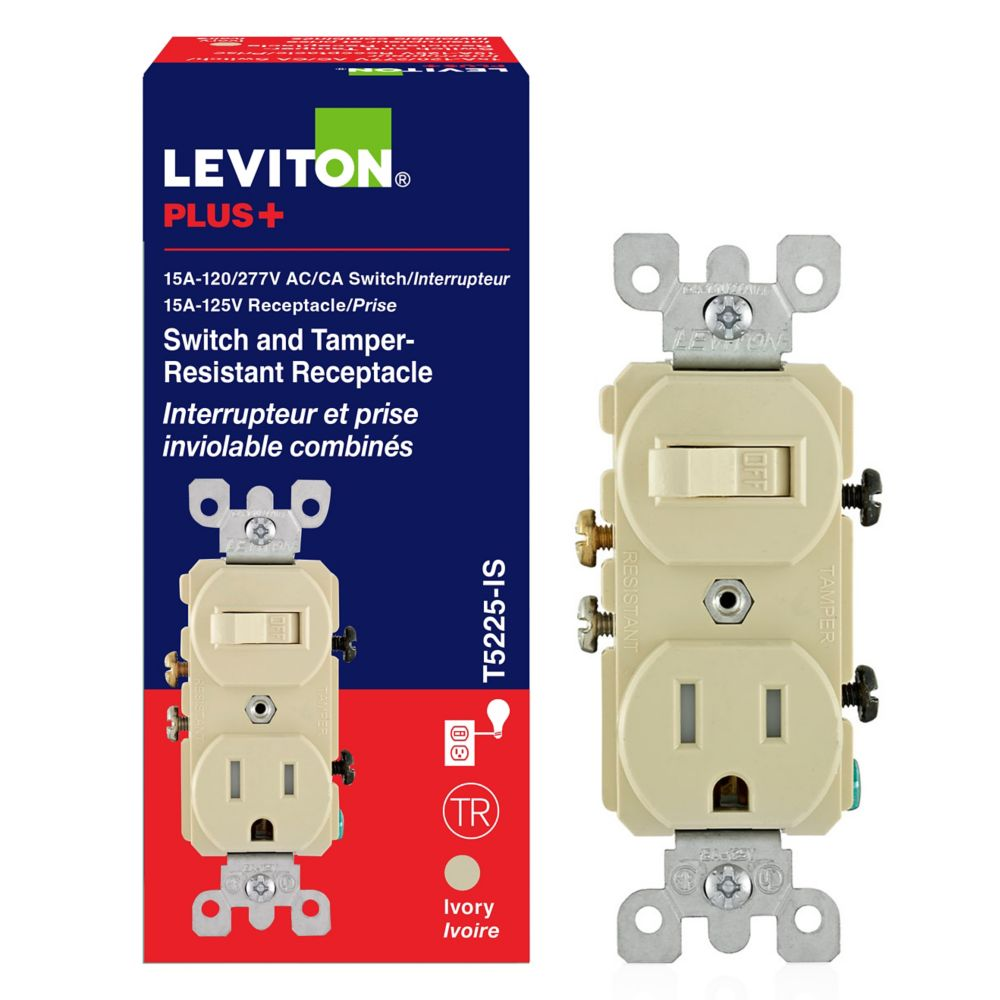 15 Amp Combination Switch-receptacle