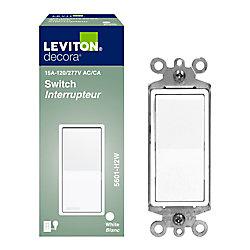 Leviton Interrupteur unipolaire Decora(md) , blanc