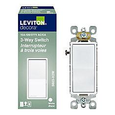 Interrupteur Decora, 3 voies, blanc