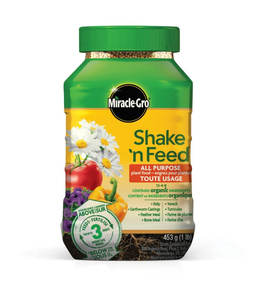 Miracle-Gro<sup>®</sup> Shake 'n Feed� Slow Release Plant Food 19-6-12 for Containers