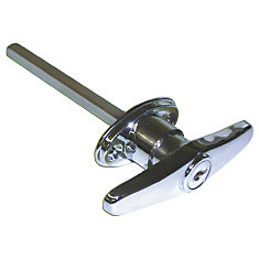 Keyed T Garage Door Lock in Chrome